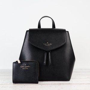 NWT Kate Spade Lizzie Flap Backpack & Wallet *SET*